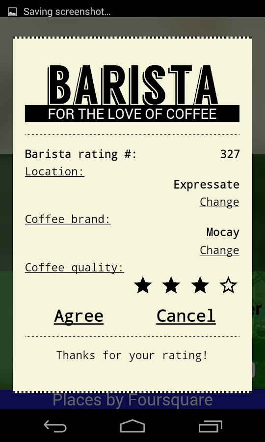 Barista- screenshot