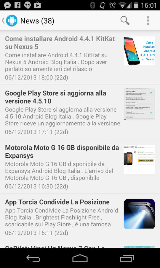 AndroidBlog - screenshot