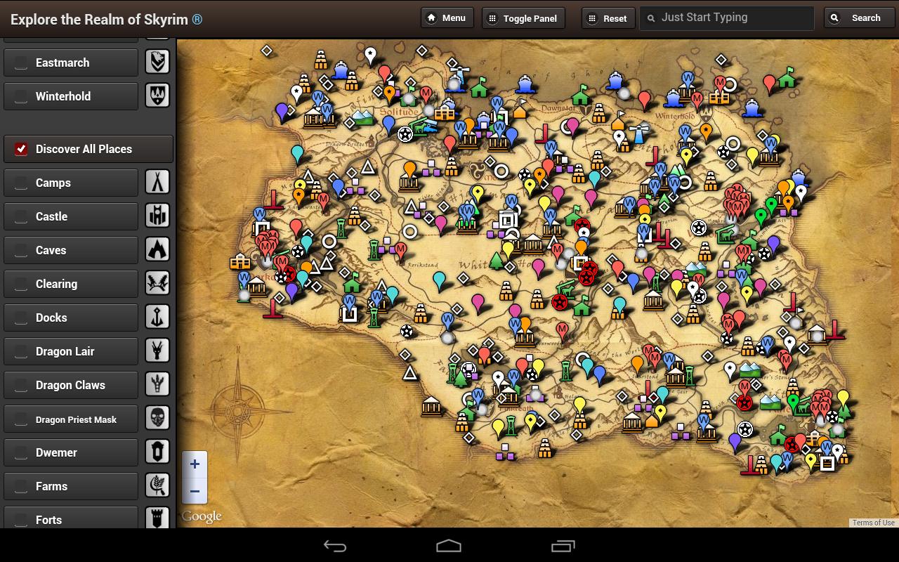 Skyrim Map HD Google Play Store Revenue Download Estimates US - Us map hd