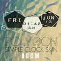 UCCW Polygon simple clock icon