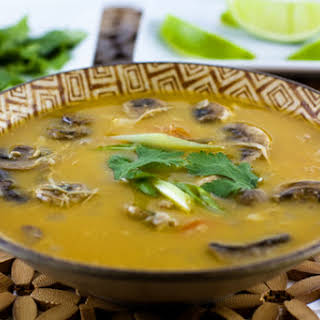 Slow Cooker Thai Chicken Soup #SouperJanuary.
