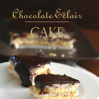 Chocolate Eclair Cake – Low Carb and Gluten-Free.