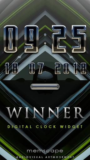 WINNER Digital Clock Widget