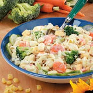 Creamy Shell Pasta Salad.