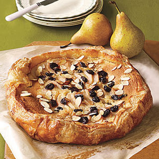 Pear, Dried-Cherry and Almond Galette