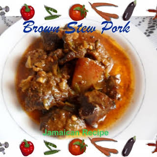 Jamaican Brown Stew Pork.