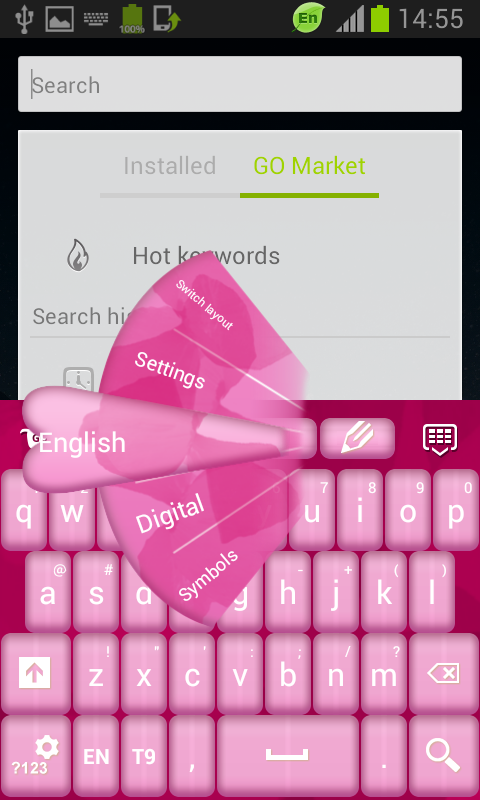 Keyboard Design Pink App - screenshot