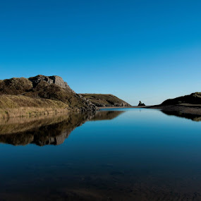 Broadhaven S Reflections by Sean Lowe - Landscapes Waterscapes