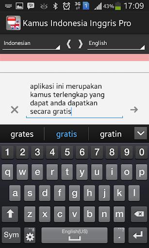 玩書籍App|Kamus Indonesia Inggris Pro免費|APP試玩
