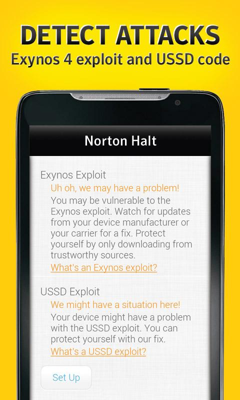 Norton Halt exploit defender - screenshot