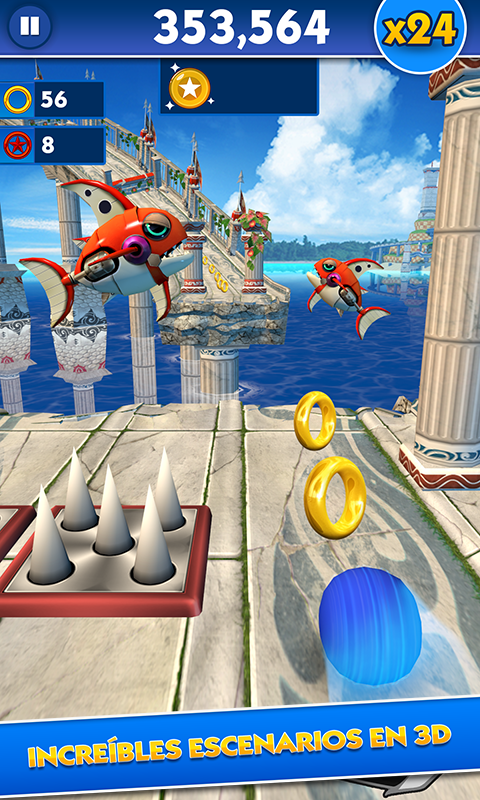 Sonic Dash: captura de pantalla