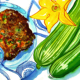 Zucchini Fritters with Adobo Sauce - by Nancy Taylor Robson