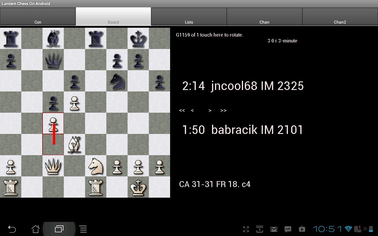 Lantern Chess on Android- screenshot