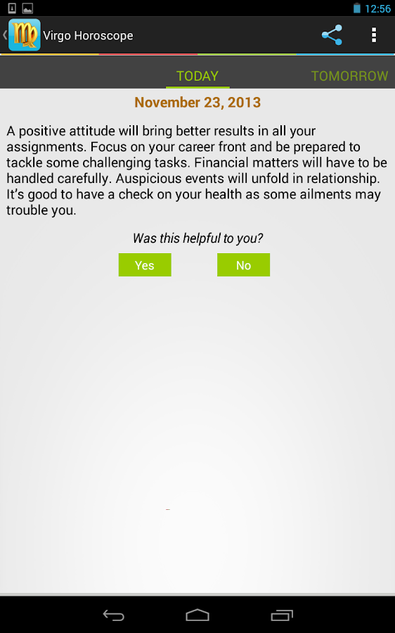 Virgo Horoscope - screenshot
