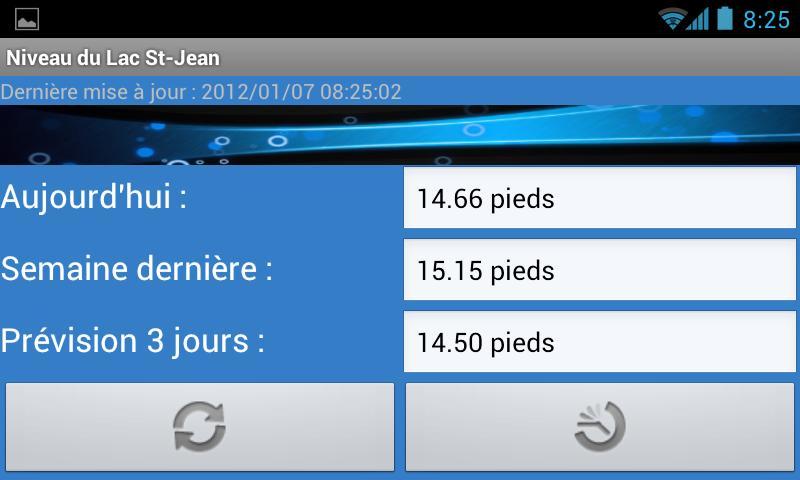 Niveau du Lac St-Jean Gratuit- screenshot