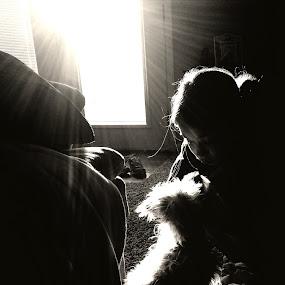 Puppy Love by Gina Conger - Black & White Animals