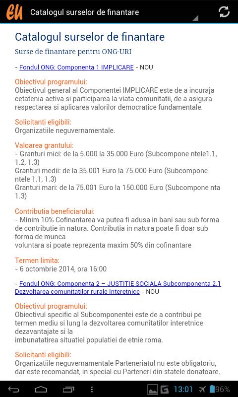 Fonduri Europene - screenshot