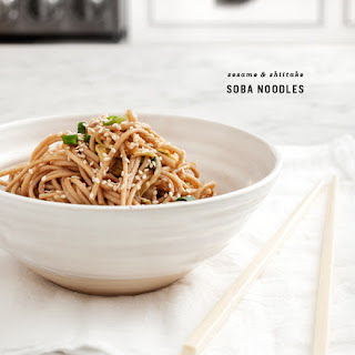 Sesame & Shiitake Soba Noodles.