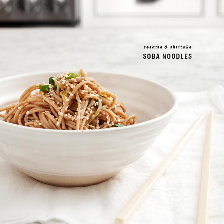 Sesame & Shiitake Soba Noodles Recipe