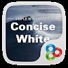 Concise White GOLauncher Theme