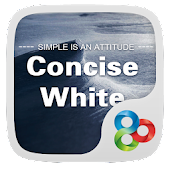 Concise White GOLauncher Theme