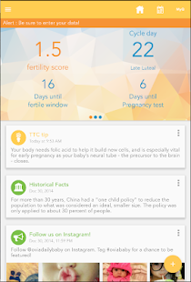 Ovia Fertility and Ovulation screenshot for Android