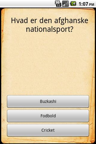Afghanistan Quiz - screenshot