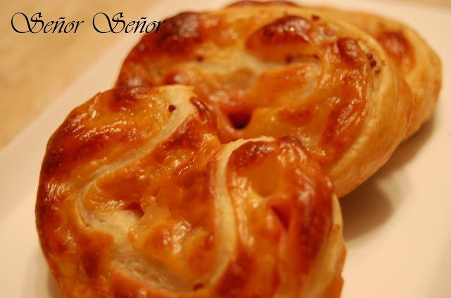 Ham, Cured Cheese and Mustard Palmerita Pastries Recipe