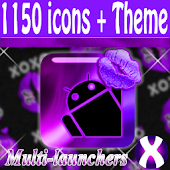 Purple Lipstick Icon Pack
