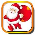 Christmas Santa Fly logo