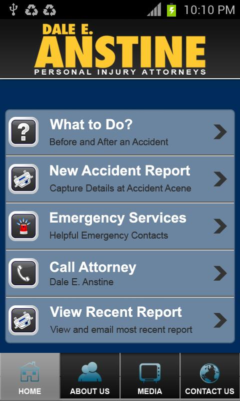 Accident App Dale E. Anstine- screenshot