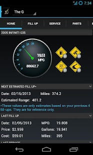 DriverDiary - Gas Mileage Screenshot 1