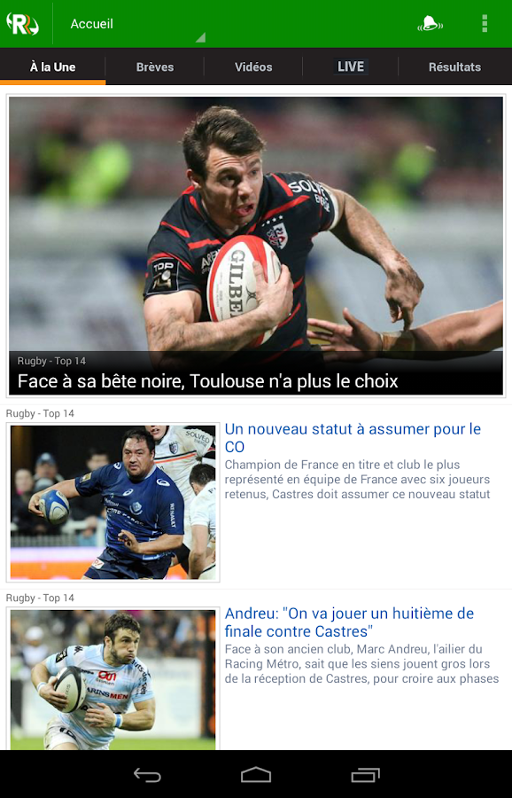 Rugbyrama - screenshot
