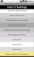 Screenshot of Radiologia en preguntas cortas