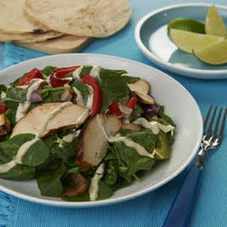 Chicken Fajita Spinach Salad.