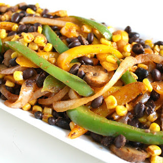 Corn and Black Bean Fajitas