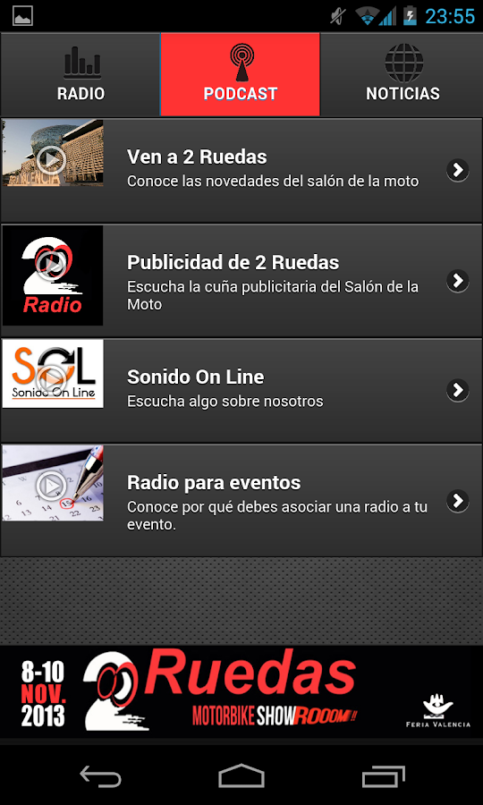 2 Ruedas Radio - screenshot