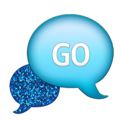 GO SMS - Blue Glitter 2