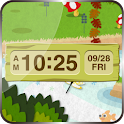 Clock Widget-nukunuku hillock icon