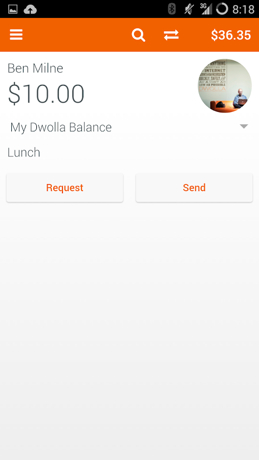 Dwolla- screenshot