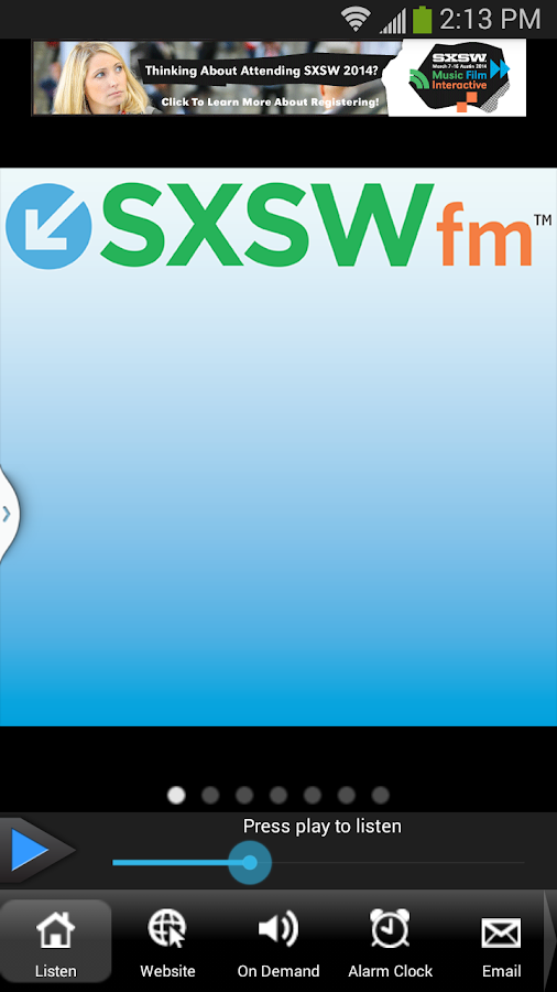 SXSWfm™ - screenshot