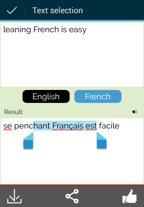 how to change from french to english in google