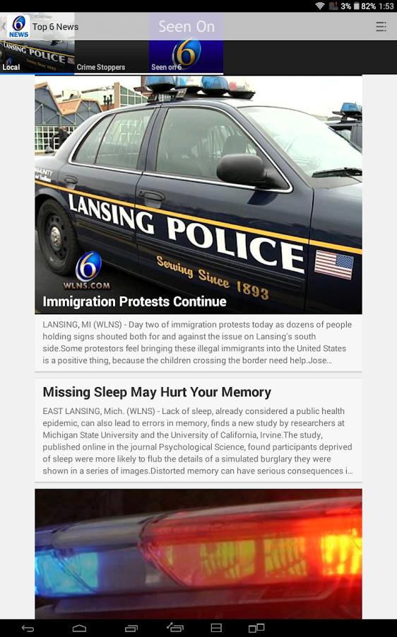 WLNS TV 6 Lansing - Jackson - screenshot