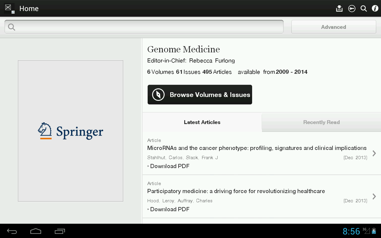 Genome Medicine - screenshot