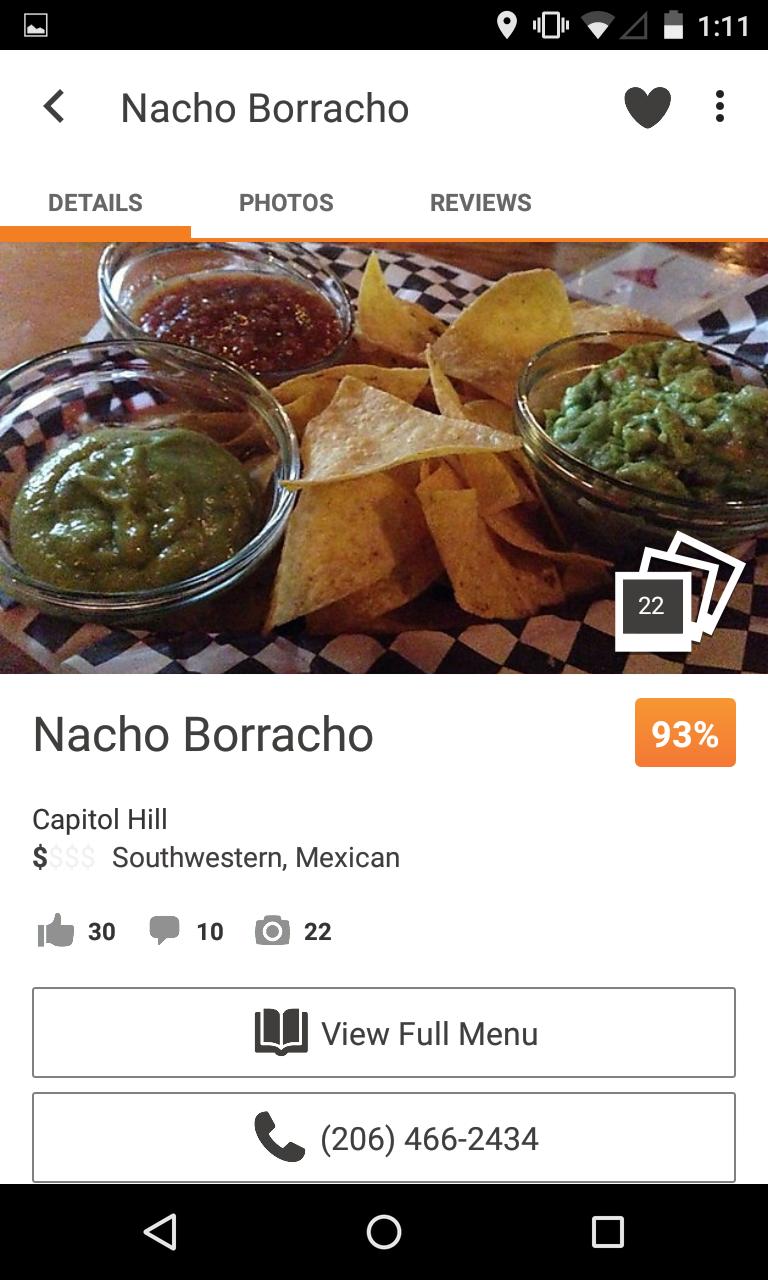 Urbanspoon Restaurant Reviews screenshot #2