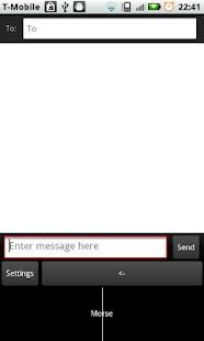 Morse Code Input screenshot