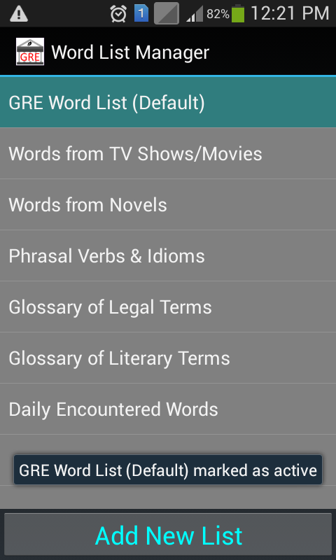 Word Note - Vocab Builder for Creative Writers/GRE- screenshot