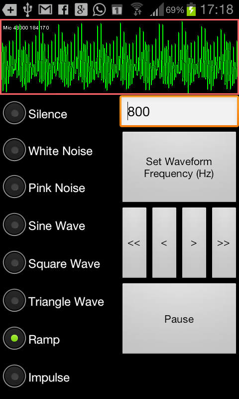 SoundForm Signal Generator - screenshot