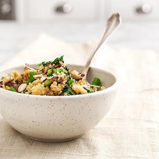 "Mushroom & Edamame Quinoa Fried ""rice"""
