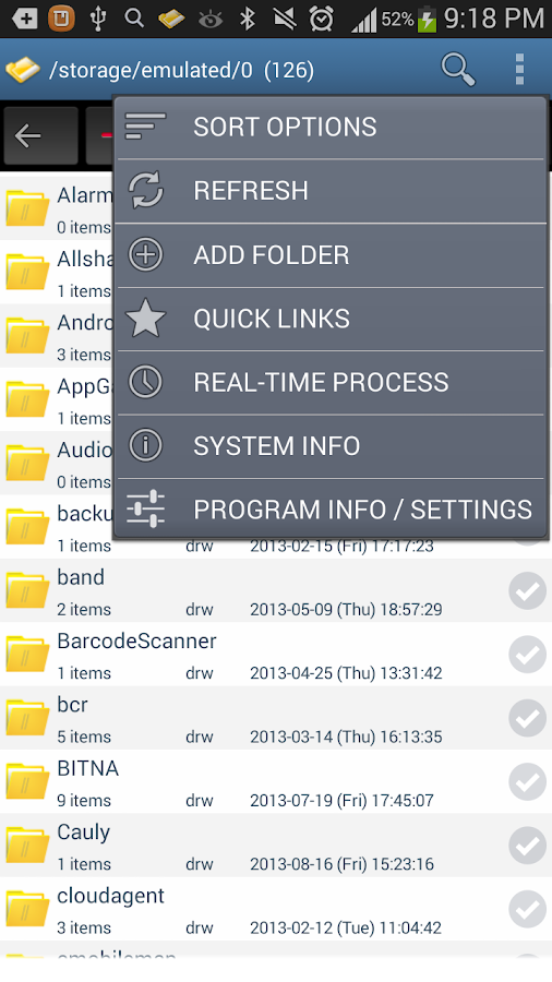 Android File Manager - screenshot